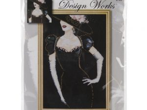 Lady in Black  Cross Stitch Kit