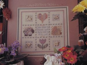 Buttoned Hearts Pattern