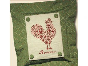 French Country - Rooster Cross Stitch Pattern