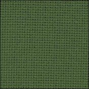 6037 Dark Green Zweigart Aida 14 Count