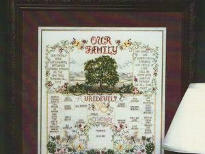 Our Family Tree Cross Stitch Pattern
