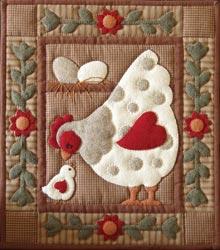 Spotty Hen Wall Hanging Kit by Rachel T Pelman