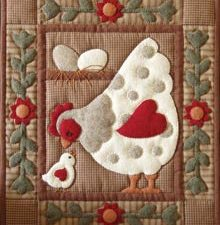 Spotty Hen Wall Hanging Kit by Rachel T Pelman