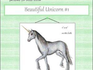 Beautiful Unicorn #1 By Lissa Mitchell Cross Stitch Pattern