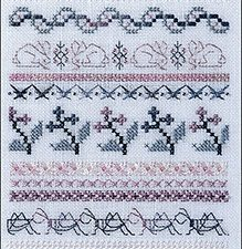 Morning Meadow Sampler Cross Stitch Pattern