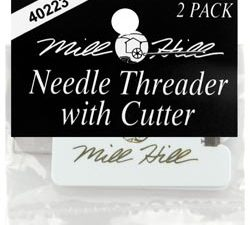 Mill Hill Needle Threader with Cutter 2 in pack