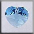 Crystal Treasure 13038 Small Heart Aquamarine
