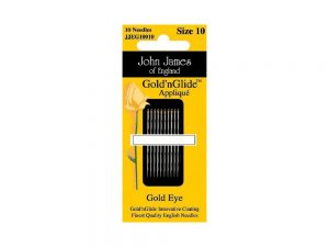 Gold n Glide Applique Needles Size 10