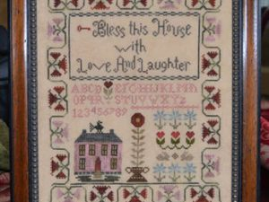 Bless This House with Love and Laughter by Abby Rose Designs Cross Stitch Pattern