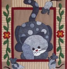 Spotty Cat Wall Hanging  Kit by Rachel T Pelman