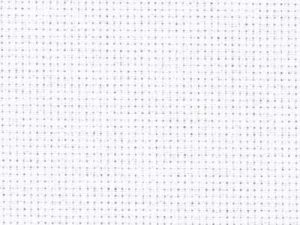 100 White Zweigart Aida 14 Count 109cm wide