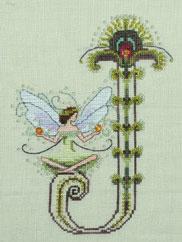 """Letter """"J"""" by Norah Corbet Cross Stitch Pattern"""