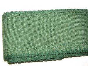24Ct Christmas Green Linen Band