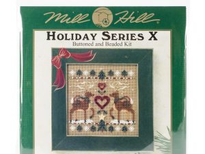 Reindeer Sampler Buttoned & Beaded  Mill Hill Kit
