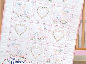 Little Girls Crib Quilt Top by Jack Dempsey