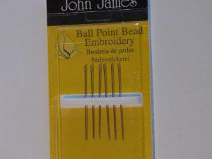 Ball Point Beading Embroidery Needles Size 10 - John James