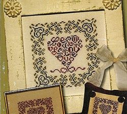 French Country - Love Cross Stitch Pattern