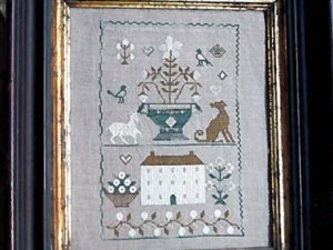 Old White Farmhouse Sampler by Stacy Nash Cross Stitch Pattern