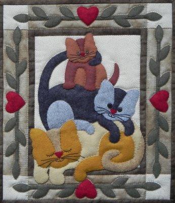 Cat Stack Wall Hanging  Kit by Rachel T Pelman