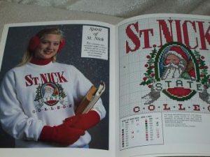 Treasury of Santas Cross Stitch Pattern