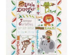 Little Explorer Birth Record Bucilla Cross Stitch Kit BU45716
