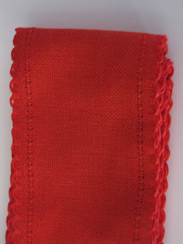24 Ct Christmas Red Linen Band
