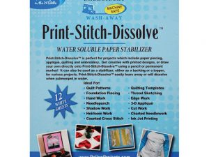 Pellon Print-Stitch-Dissolve