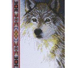 Wolf Mini Cross Stitch  Janlynn Cross Stitch Kit