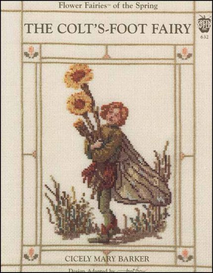 The Colt's Foot Fairy Cross Stitch Pattern