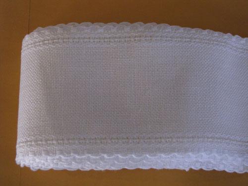 24Ct White Linen Band