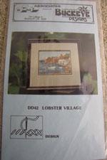 Lobster Village Cross Stitch Pattern