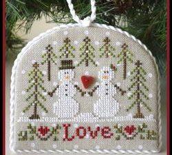 Snow Love Ornament Pattern Cross Stitch Pattern