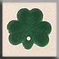 Glass Treasure 12145 Shamrock 11mm Matte Emerald