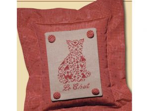 French Country - Cat Cross Stitch Pattern