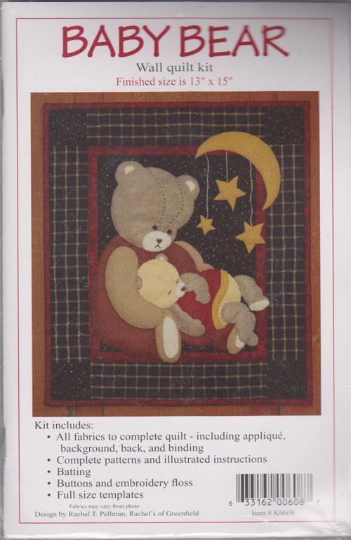 Baby Bear Wall Hanging Kit by Rachel T Pelman