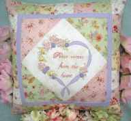 Peace Cushion Applique by Petals & Patches - Pattern