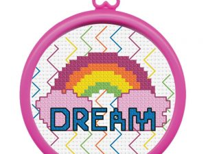 Bucilla Dream Rainbow My First Cross Stitch Kit