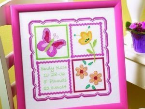 Sophie Birth Record  Cross Stitch Kit by Bucilla BU43901