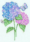 Hydrangeas  Cross Stitch Kit by Bucilla BU45525