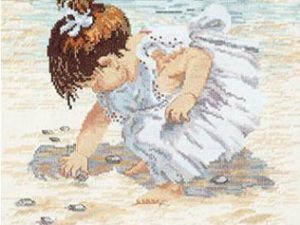 Collecting Shells  Cross Stitch Kit by Janlynn 29-0019