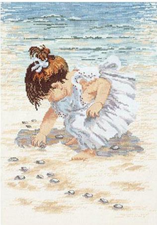Collecting Shells  Cross Stitch Kit by Janlynn 29-0019