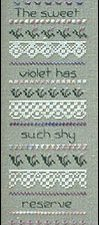 Violet and Lace Sampler Cross Stitch Pattern