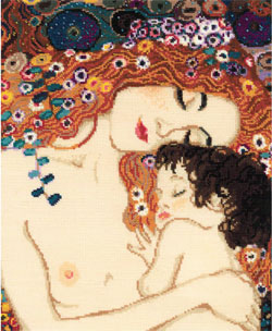 Motherly Love  Riolis based on the Klimt painting Cross Stitch Kit