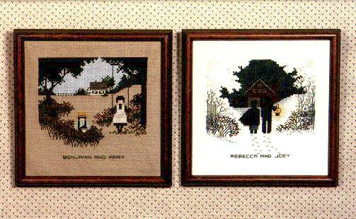 Amish Kids TG7 Cross Stitch Pattern by Told in a Garden