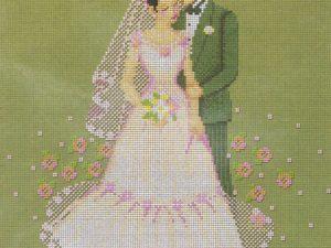 Wedding  Pinn Cross Stitch Kit