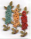 Hollyhocks Bright Button by Theodora Cleave