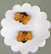 BBees set of 2 Button by Theodora Cleave