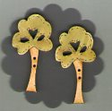 Love Trees Button by Theodora Cleave