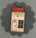 Quilt Shop 45mm Button by Theodora Cleave