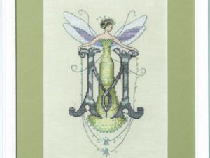 "Letter ""M"" by Norah Corbet - Fairies Cross Stitch Pattern"